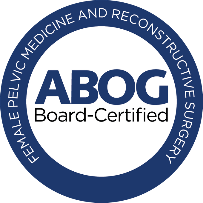 ABOG Board Certified Female Pelvic Medicine and Reconstruction Surgery